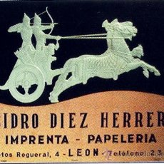 Carteles Publicitarios: CIRCA 1950.- CABECERA DE CARTON CON RELIEVE Y FALDA DE ALMANAQUE 1970 CON PUBLICIDAD. Lote 30820324