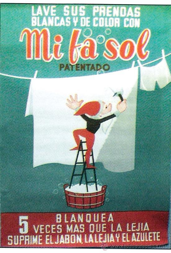 1950 Cartel Publicitario De Detergente Mi Comprar
