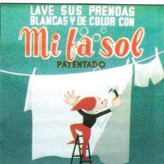 Carteles Publicitarios: 1950.- CARTEL PUBLICITARIO DE DETERGENTE - MI, FA, SOL - A TODO COLOR.. Lote 30820582