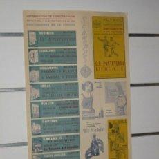 Carteles Publicitarios: CARTEL INFORMACION ESPECTACULOS DE ALICANTE SEMANA 17 AL 23 FEBRERO 1964. Lote 30893373