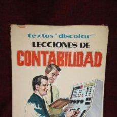 Carteles Publicitarios: ILUSTRACIÓN EN ACUARELA - ORIGINAL - PUBLICITARIA 'TEXTOS 'DISCOLAR' LECCIONES DE CONTABILIDAD . Lote 107438808