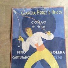 Carteles Publicitarios: CARTEL PUBLICITARIO DE JEREZ AÑOS 20. Lote 31196273