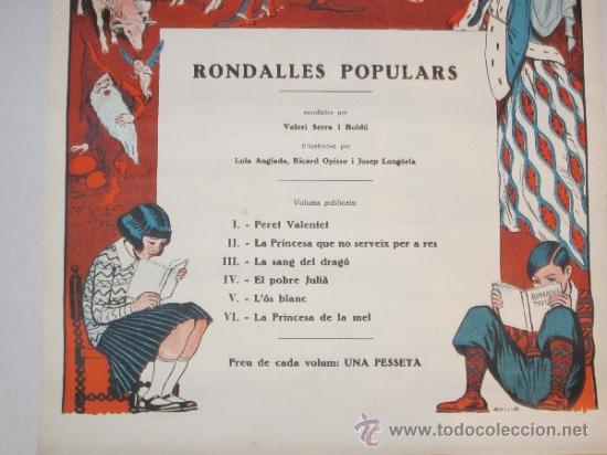 Carteles Publicitarios: CARTEL PUBLICIDAD RONDALLES POPULARS - ILUSTRADO POR OPISSO - VER FOTOS ADICIONALES - (CARTEL -103) - Foto 3 - 31327647