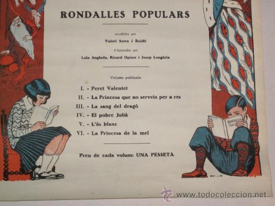 Carteles Publicitarios: CARTEL PUBLICIDAD RONDALLES POPULARS - ILUSTRADO POR OPISSO - VER FOTOS ADICIONALES - (CARTEL -103) - Foto 9 - 31327647