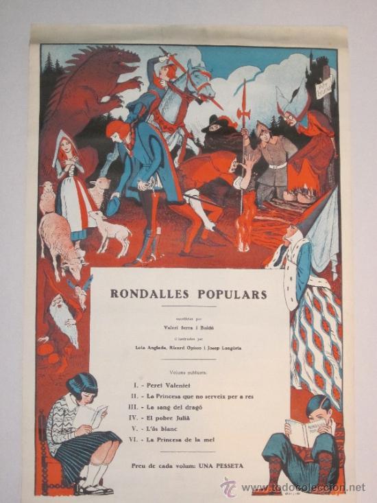 CARTEL PUBLICIDAD RONDALLES POPULARS - ILUSTRADO POR OPISSO - VER FOTOS ADICIONALES - (CARTEL -103) (Coleccionismo - Carteles Gran Formato - Carteles Publicitarios)