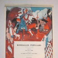 Carteles Publicitarios: CARTEL PUBLICIDAD RONDALLES POPULARS - ILUSTRADO POR OPISSO - VER FOTOS ADICIONALES - (CARTEL -103). Lote 31327647