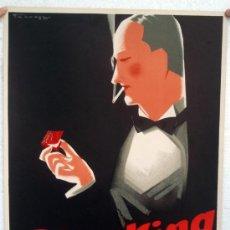 Carteles Publicitarios: CARTEL PUBLICIDAD, PAPEL DE FUMAR SMOKING , LITOGRAFIA , POSTER ANTIGUO, ORIGINAL. Lote 31851081