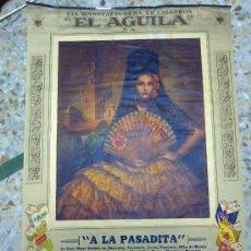Carteles Publicitarios: CARTEL PUBLICITARIO. MANUFACTURA DE CIGARROS EL AGUILA. ALAS, TIGRES, BELMONT, VIRGINA, CASINOS, ETC. Lote 31872306