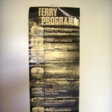 Carteles Publicitarios: CARTEL TERRY PROGRAMA, ORIGINAL AÑO 60, CENTENARIO TERRY. TOUR POR EUROPA DE . Lote 31882537