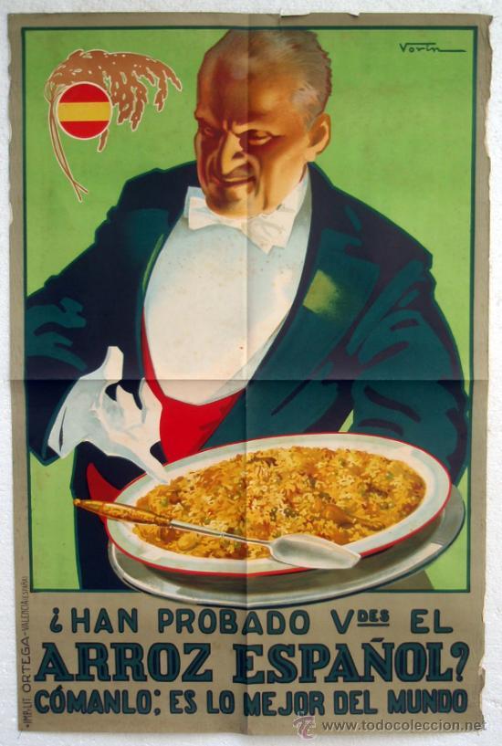 Cartel publicidad arroz espa ol a os 1620 193 comprar carteles antiguos publicitarios en - Carteles publicitarios antiguos ...