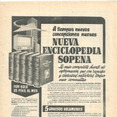 Affiches Publicitaires: HOJITA PUBLICITARIA DE NUEVA ENCICLOPEDIA SOPENA. 1957. Lote 32762948