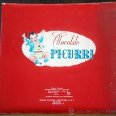 Carteles Publicitarios: CARTEL PUBLICIDAD, PINTURA, PINTADO A MANO, CHOCOLATE CHOCOLATES PICURRI CORDOBA ,ORIGINAL. Lote 33525619