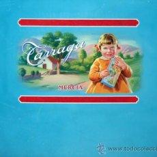 Carteles Publicitarios: CARTEL ETIQUETA PUBLICIDAD PINTURA PINTADO A MANO CHOCOLATE CHOCOLATES TARREGA MURCIA ORIGINAL. Lote 33526324