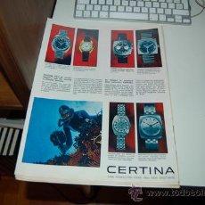 Affiches Publicitaires: HOJA PUBLICITARIA DE RELOJ CERTINA DS-2. 1970. Lote 34051475