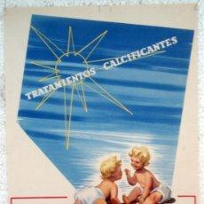 Carteles Publicitarios: CARTEL PUBLICIDAD, FARMACIA CALCIO FORGANA , CARTULINA , ORIGINAL . Lote 34264197