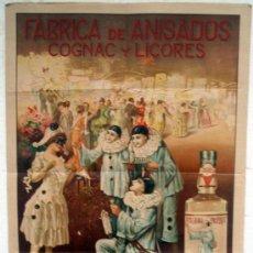 Carteles Publicitarios: CARTEL PUBLICIDAD, FABRICA ANIS PRIETO VARGAS, CONSTANTINA, SEVILLA, LITOGRAFIA, BARREIRA ,ORIGINAL. Lote 34265613
