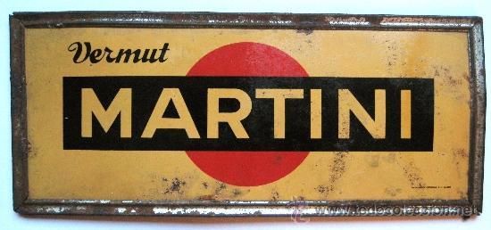 Cartel chapa vermut martini marco cromado a os comprar - Carteles publicitarios antiguos ...