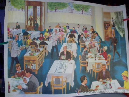 Carteles Publicitarios: Cartel,Poster Pedagógico Diseñador Henri Mercier. Lote de 4, a dos Caras. - Foto 2 - 34674063