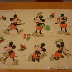 Carteles Publicitarios: MICKEY MOUSE WALT DISNEY AÑOS 40 LABORES DEL HOGAR. Lote 35359483