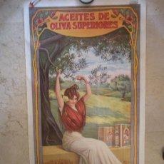 Carteles Publicitarios: CARTEL ACEITES CARBONELL AÑOS 1970, MEDIDAS 112 X 63 CM, ESTA NUEVO SIN ROTURAS. Lote 36480404