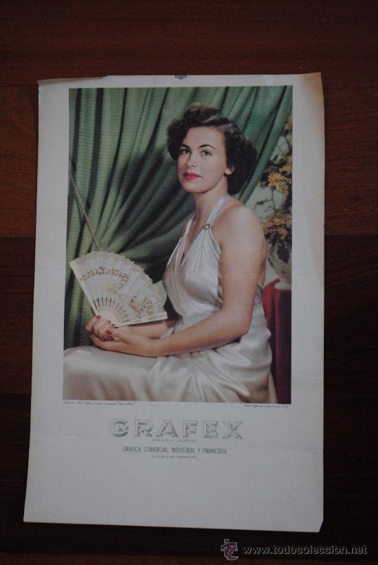 CARTEL GRAFEX SOCIEDAD ANONIMA. GRAFICA, COMERCIAL, INDUSTRIAL Y FINANCIERA. 46X30CM (Coleccionismo - Carteles Gran Formato - Carteles Publicitarios)