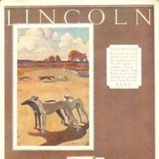 Carteles Publicitarios: CARTEL 'LINCOLN'. C.1930 . 26X36 CM.. Lote 36152207
