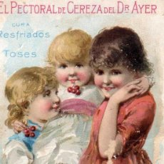 Carteles Publicitarios: CARTELITO PUBLICIDAD PRODUCTOS DEL DR.AYER, PRINCIPIOS SIGLO XX. Lote 36410896