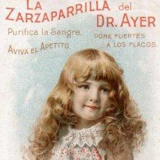 Carteles Publicitarios: CATELITO PUBLICITARIO PRODUCTOS DR. AYER.PRINCIPIOS SIGLO XX. Lote 36410994