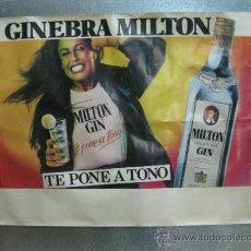 Carteles Publicitarios: BONITO CARTEL DE GINEBRA MILTON - AÑO 1981. Lote 36891125