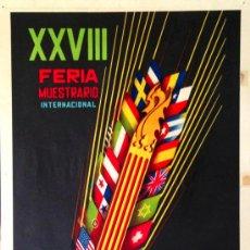 Carteles Publicitarios: CARTEL XXVIII FERIA MUESTRARIO INTERNACIONAL VALENCIA 1950. LITOGRÁFICO ORIGINAL DE ÉPOCA. 64X43CM. Lote 37113078