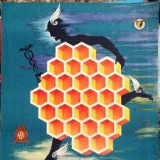 Carteles Publicitarios: CARTEL BARCELONA 1956. FERIA DE MUESTRAS. 70X100CM DE ÉPOCA. PUBLICIDAD. Lote 37140726