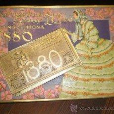 Carteles Publicitarios: ANTIGUO CARTEL PUBLICIDAD TURRONES 1880 EL LOBO JIJONA. Lote 195196805