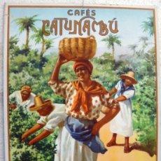 Carteles Publicitarios: CARTEL PUBLICIDAD CAFE , CAFES CATUNAMBU , SEVILLA , CARTON 1934 , ORIGINAL. Lote 37537888