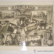 Carteles Publicitarios: GRAN FABRICA DE CERVEZAS -EL LAUREL DE BACO - BEBIDAS GASEOSAS Y JARABES - MADRID - VER FOTOS ADIC. . Lote 37593944