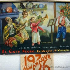Carteles Publicitarios: CARTEL PUBLICIDAD GENEROS PUNTO EL GATO NEGRO, VALENCIA, NIÑO CON TROMPETA, PAPEL ,ORIGINAL. Lote 37731372
