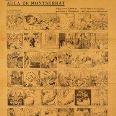 Carteles Publicitarios: CARTEL AUCA DE MONTSERRAT. Lote 47451745