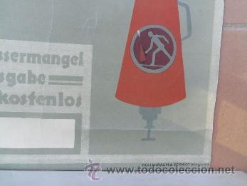 Carteles Publicitarios: interesante cartel publicitario del extintor miniMax -años 50 aproxmte aleman landwirte HOLLERBAUM - Foto 2 - 38734647