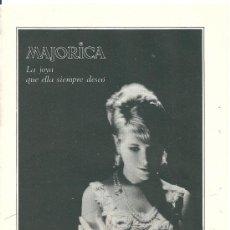 Affissi Pubblicitari: HOJITA PUBLICITARIA DE BRAZALETE DE PERLAS MAJORICA. 1966. Lote 38108960