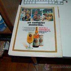 Carteles Publicitarios: HOJA PUBLICITARIA ALCOHÓLICA DE CERVEZA ÁGUILA IMPERIAL. 1969. Lote 38124947