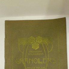 Carteles Publicitarios: PROGRAMA ANUNCIADOR GRANOLLERS FESTA MAJOR 1914. Lote 38381866