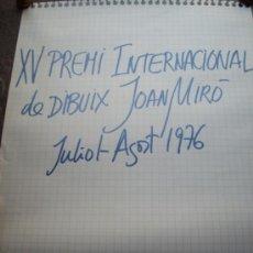 Werbeplakate - poster, cartel xv premio internacional dibujo joan miro1976 - fundacion joan miro barcelona - 38599422