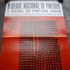 Carteles Publicitarios: POSTER, CARTEL EXPO II BIENAL INTERNACIONAL DE PINTURA - CIRCULO ARTISTICO DE MANRESA 1974. Lote 38600337