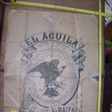 Carteles Publicitarios: CARTEL PUBLICITARIO PAPEL DE ARROZ, EL AGUILA GRANDES ALMACENES, PERFECTA CONSERVACION. Lote 38619041