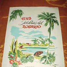 Carteles Publicitarios: CLUB JARDINES DEL ROSARIO. CARTA PARRILLA. CARTEL TAMAÑO: 32 X 22 CM*. Lote 39060006