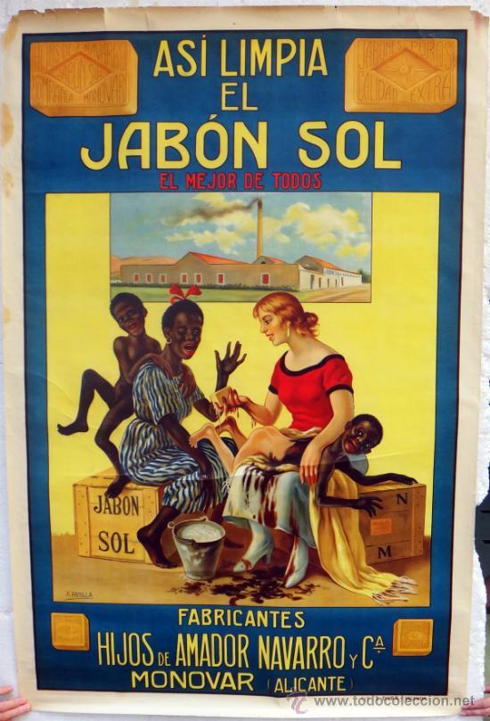 Cartel publicidad jabon sol negritos cromoli comprar carteles antiguos publicitarios en - Carteles publicitarios antiguos ...