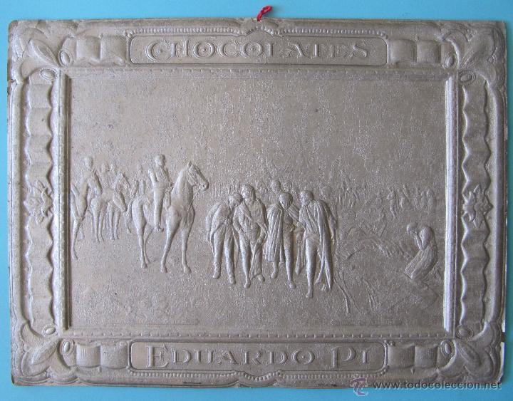 CARTEL PROVENIENTE DE UN CALENDARIO DE CHOCOLATE CHOCOLATES EDUARDO PI, SIN FECHA. (Coleccionismo - Carteles Gran Formato - Carteles Publicitarios)