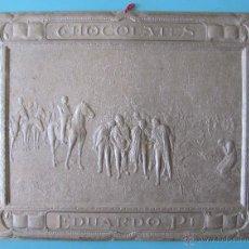 Carteles Publicitarios: CARTEL PROVENIENTE DE UN CALENDARIO DE CHOCOLATE CHOCOLATES EDUARDO PI, SIN FECHA.. Lote 39507649