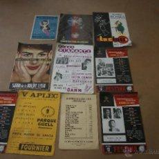 Carteles Publicitarios: LOTE DE CARTELES PUBLICITARIOS ANTIGUOS. DIVERSIDAD, NATACION..... Lote 39559560