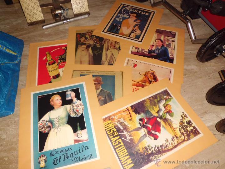 LOTE DE 8 CARTELES PUBLICITARIOS 42X30 CM (OSBORNE , ANIS ASTURIANA ETC)VER FOTOS (Coleccionismo - Carteles Gran Formato - Carteles Publicitarios)
