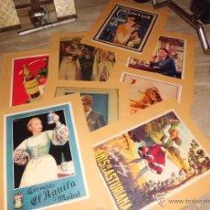 Carteles Publicitarios: LOTE DE 8 CARTELES PUBLICITARIOS 42X30 CM (OSBORNE , ANIS ASTURIANA ETC)VER FOTOS. Lote 39790844